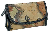 Travel/Cosmetics Bag Map Pattern