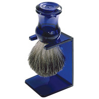 Bristle Shave Brush with Blue Stand and Handle