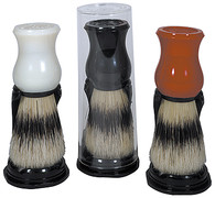 Natural Bristle Shave Brush with Stand