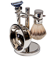 Silver plated 4 pc Shave Set