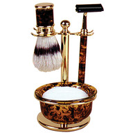 Mock Tortoise Shave Bowl Set