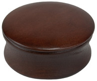 Shave Soap Bowl with Lid Dark Wood