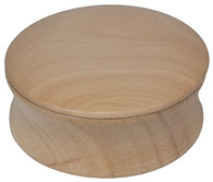 Shave Soap Bowl with Lid Natural Wood