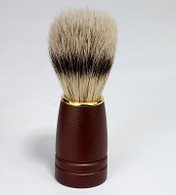 Natural Bristle Shave Brush with Dark Wood Handle