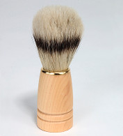 Natural Bristle Shave Brush with Natural Wood Handle
