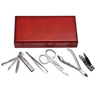 Kingsley Manicure Set In Wood Box