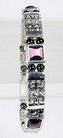 Magnetic Therapy Bracelet with Amethyst