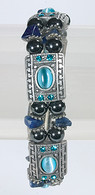 Magnetic Therapy Bracelet with Blue Topaz