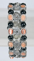 Magnetic Therapy Bracelet with Fire Opal