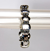 Magnetic Therapy Bracelet with White Zircon