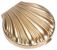 Three Compartment Pill Box Matte Gold Shell