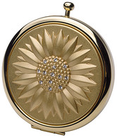 Double Compact Mirror Gold Sunburst Design