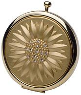 Double Compact Mirror Gold Sunburst Design
