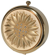 Pill Box Gold Sunburst Design