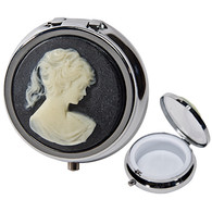 Pill Box Cameo Design Black