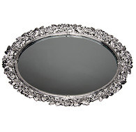 Mirrored Vanity Tray Silver Plated