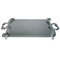 Mirrored Vanity Tray Heart Shaped Handles