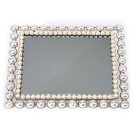 Mirrored Vanity Tray with Pearl Motif