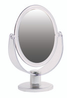 Hi Def Oval Stand Mirror