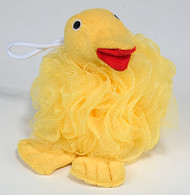 Nylon Mesh Scrubber with Terry Covered Duck Shaped Sponge