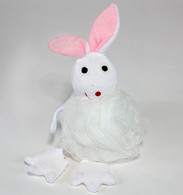 Nylon Mash Scrubber with Terry Covered Hare Shaped Sponge