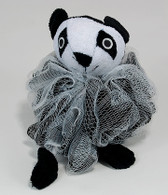 Nylon Mash Scrubber with Terry Covered Panda Shaped Sponge
