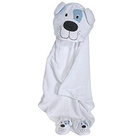Hooded Cotton Terry Bath Towel Dog Design