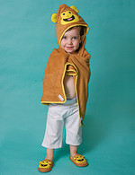 Hooded Cotton Terry Bath Towel Monkey Design