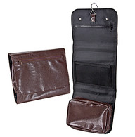 Brown Pleather Travel Bag