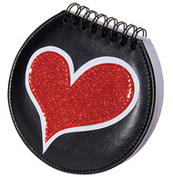 Note Pad Heart Design