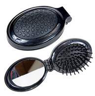 Kingsley Pop Up Hair Brush With Mirror