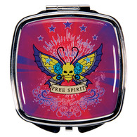 Tattoo Free Spirit Design Compact Mirror