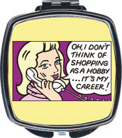 Feminista Shopping Design Compact Mirror
