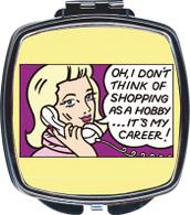 Feminista Shopping Design Compact Mirror