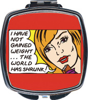 Feminista Gained Weight Design Compact Mirror