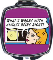 Feminista Whats Wrong Design Compact Mirror