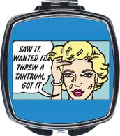 Feminista Saw It Design Compact Mirror