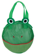 Nylon Mesh Bag With Animal Frog Design