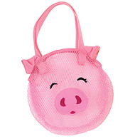 Nylon Mesh Bag With Animal Pig Design