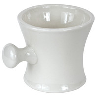 Ceramic Shaving Mug White