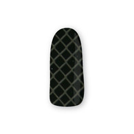 Nail Wrapz- Kriss Cross Black and Silver
