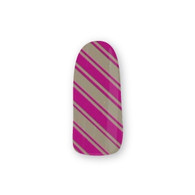 Nail Wrapz- Purple Candy Cane
