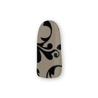 Nail Wrapz- Fancy Florentine Black and Silver