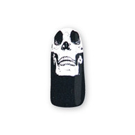 Nail Wrapz- Skully Wag Black and Silver