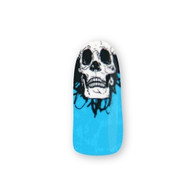 Nail Wrapz- Skully Wag Blue