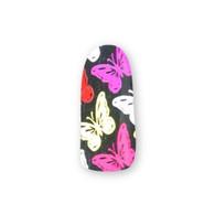 Nail Wrapz- Butterflies Silver