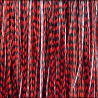 Long Striped Red Feather Extensions