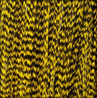Long Striped Yellow Feather Extensions
