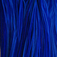 Long Solid Blue Feather Extensions
