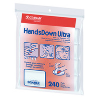 Graham Professional HandsDown Ultra Nail and Cosmetic Pads 240 Pack